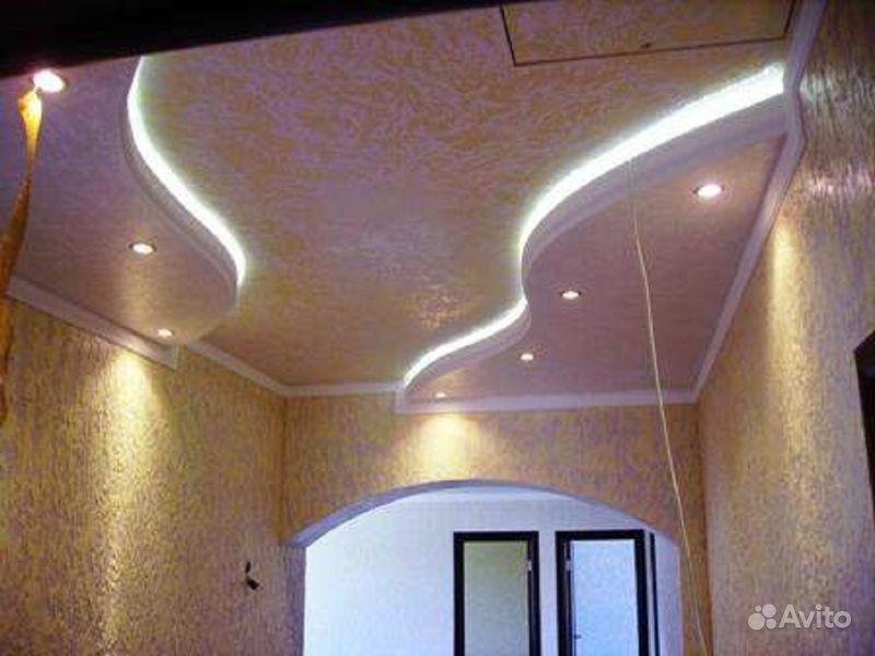 Потолок в доме из гипсокартона