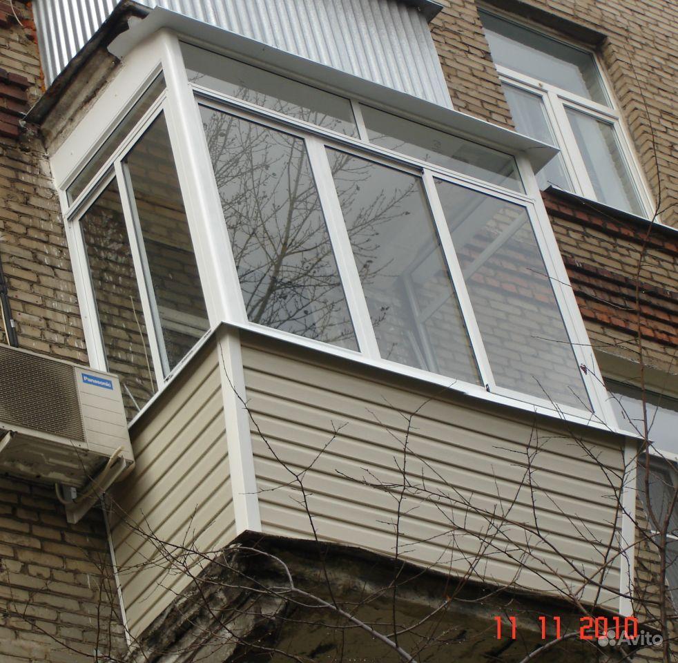 Остекление, отделка и утепление балконов и лоджий, окна и дв.