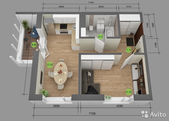 Дизайн квартиры 40 кв метра