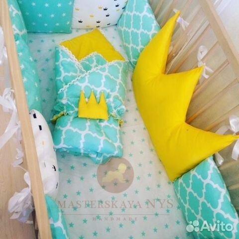 Комплект в кроватку для новорожденного сшить