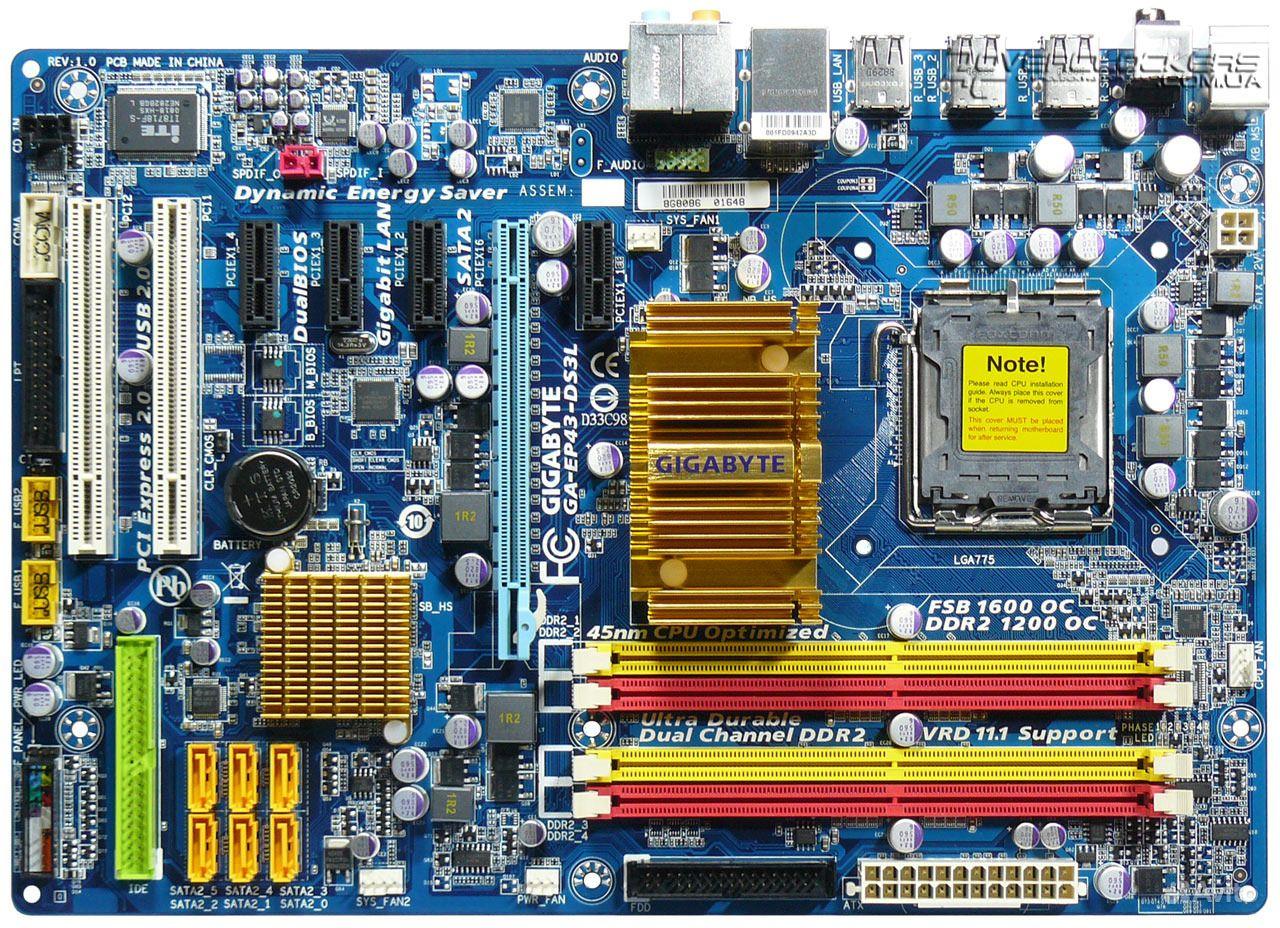 Материнская плата Gigabyte GA-EP43-DS3L | Festima.Ru - Мониторинг