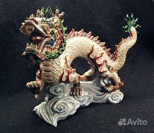 Фарфор дракон высота 29см дл 18см китай
