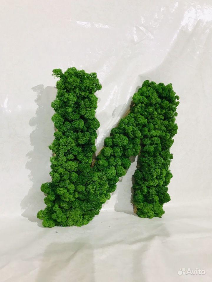 Буква из стабилизированного мха купить на Зозу.ру - фотография № 4