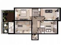 3-к квартира, 90 м², 1/4 эт. — Квартиры в Тюмени