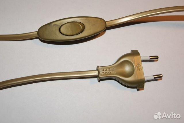 шнур для бра с проходным выключателем бронза Груз