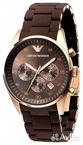 коричневые часы мужские