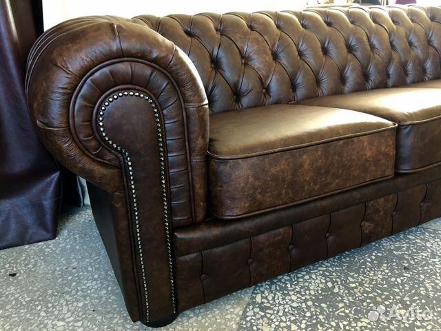 кожаный диван честер купить в москве на Avito объявления на сайте