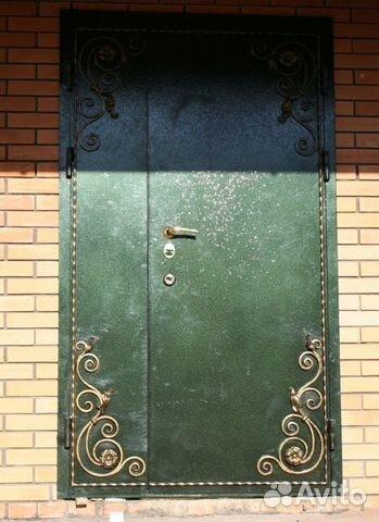 кованная железная дверь