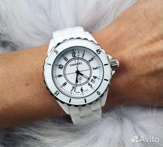 Часы круглые кирамические белые