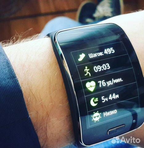 Умные часы SAMSUNG Gear S + телефон SAMSUNG S4— фотография №1 9bfb97d81cd