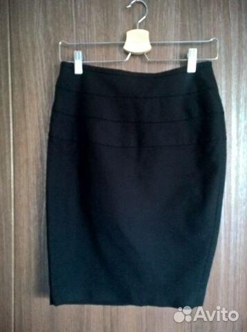 03c5ec80ff1 Деловая юбка Zara черного цвета (S)