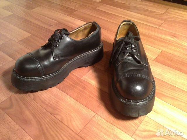 24be196a55b Ботинки Grinders черные б.у