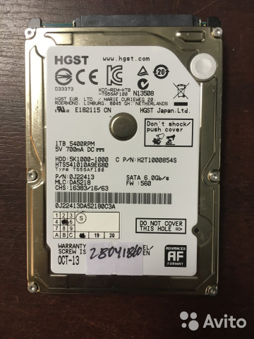 HGST HTS541010A9E680 DRIVERS FOR WINDOWS 8