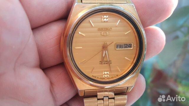 Мужские позолоченные наручные часы Seiko 5 89283211593 купить 1