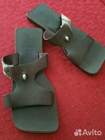Абсолютно новые кожаные шлепанцы 89134842209 купить 1