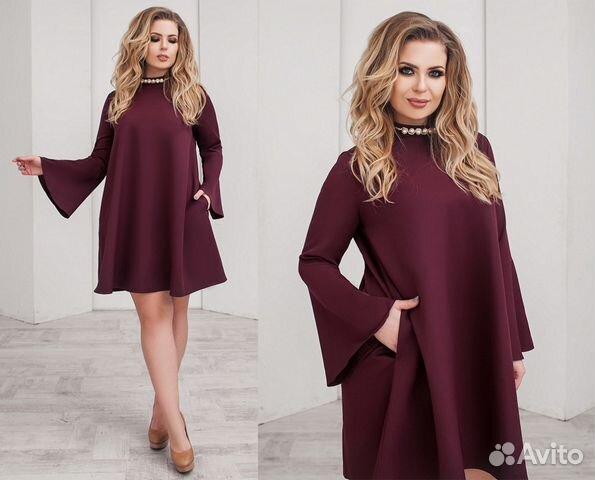 f000840a8311cf5 Бордовое вечернее платье с рукавами фонариками | Festima.Ru ...