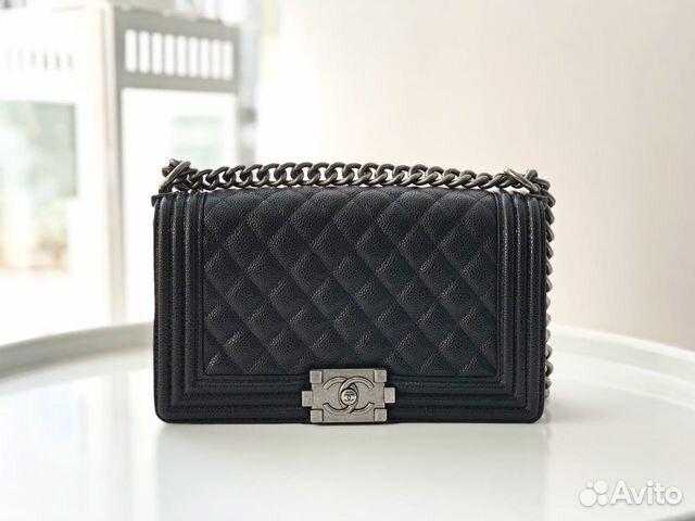 Сумка Chanel Boy Caviar Шанель бой клатч икра чер   Festima.Ru ... 1ac6c3bba4b