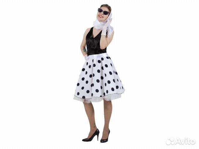 0f1fe8cecdd Карнавальный платье в стиле 50-х в горох взрослое