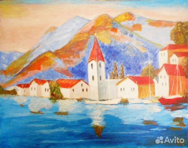 Картина маслом черногория 89044983953 купить 1