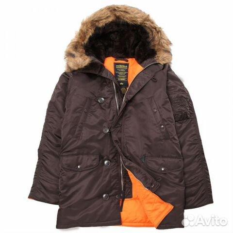 4c64e24f Аляска парка N-3B Alpha Slim Fit Brown L,2XL,3XL купить в Москве на ...