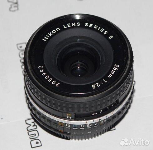 Nikon E 28MM F2.8 wide angle lens