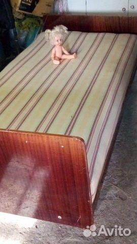 1,5 спальная кровать, б/у 89178616220 купить 3