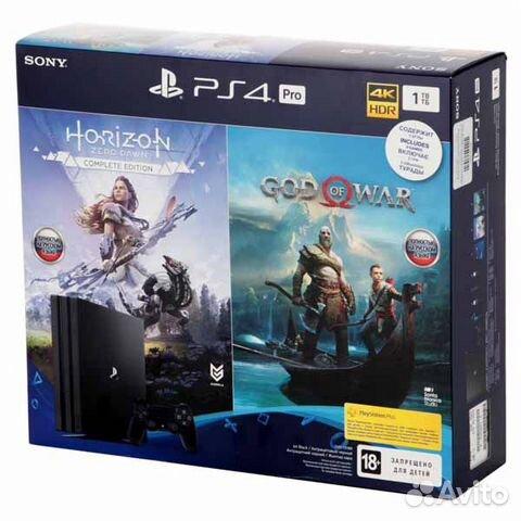 Новая Sony playstation 4 Pro+HZD/GOW запечатанная 89874729154 купить 1