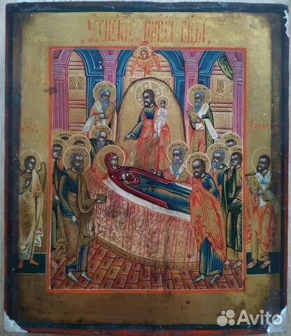 Икона старинная Успение Богородицы  купить 1