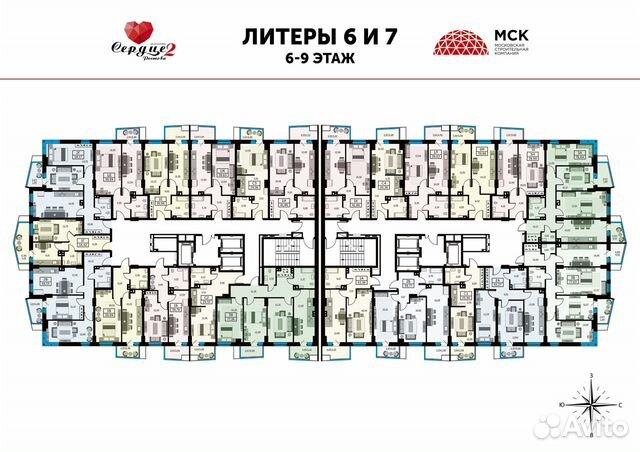 1-к квартира, 39.5 м², 24/25 эт. купить 6
