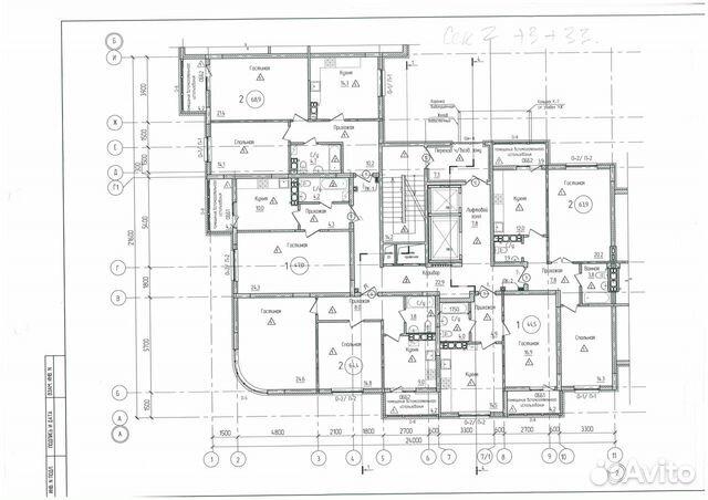 2-к квартира, 64.4 м², 3/12 эт.  89097981825 купить 3