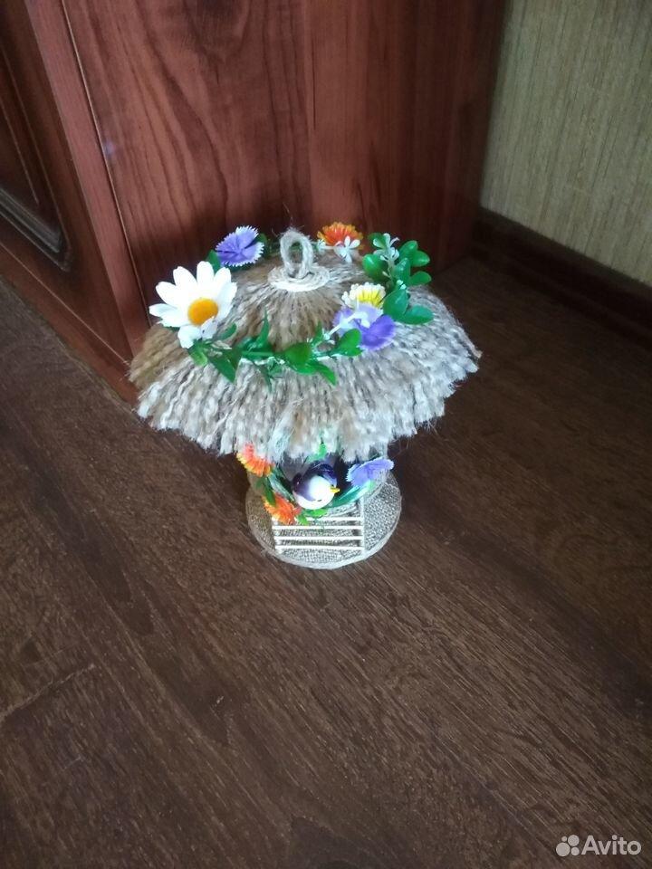 Домик из джута для украшения интерьера  89042052967 купить 3