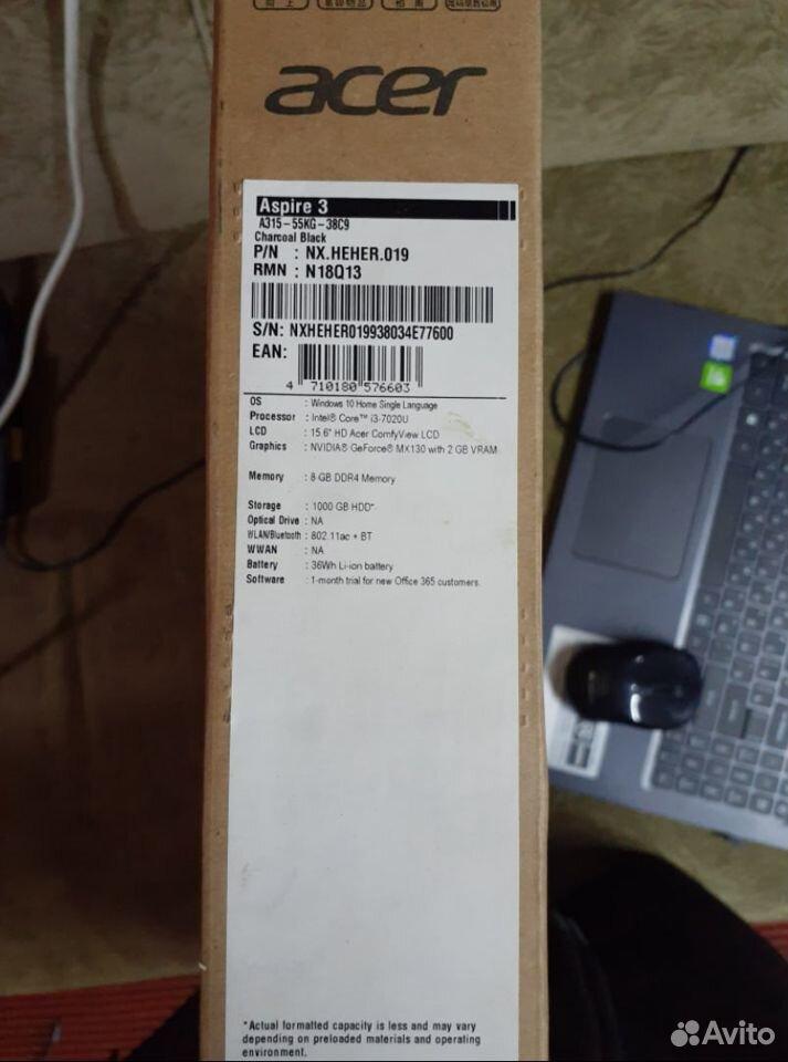 Ноутбук Acer Aspire 3 (i3-7020U/GeForce MX130 2GB)  89776287182 купить 8