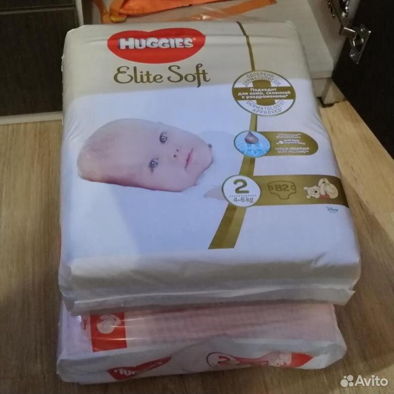 Подгузники и трусики huggies Elite Soft