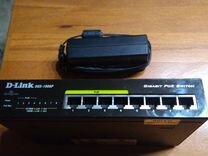 Гигабитный коммутатор D-Link DGS-1008P POE (обмен)
