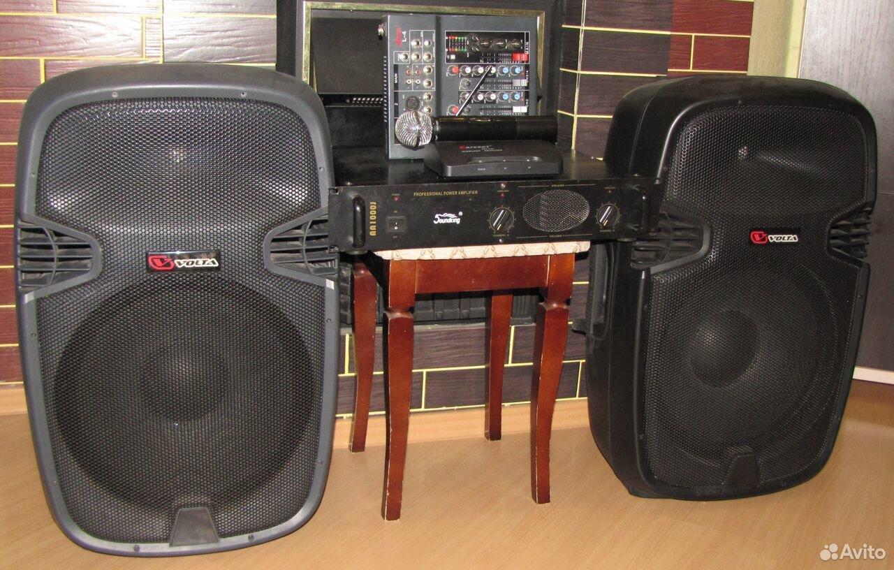 Колонки Volta 700W D15 усилитель микшер микрофон  89128899109 купить 2