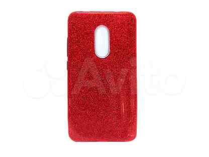 Чехол-накладка для xiaomi Redmi 5 jzzs Shinny 3в1 TPU красная