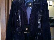 Куртка замшевая новая Giuliano renzo — Одежда, обувь, аксессуары в Москве